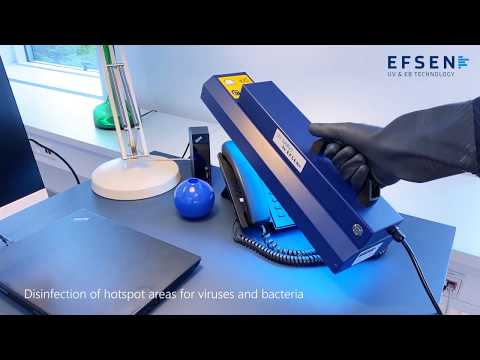 Office - Disinfection of a workstation in an office with UV BARx1