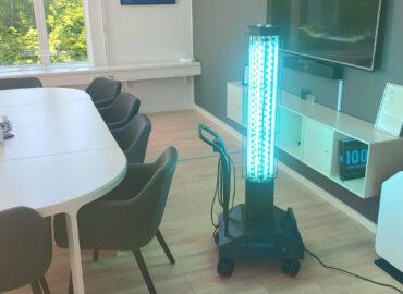 UV TOWER desinfektion af mødelokale
